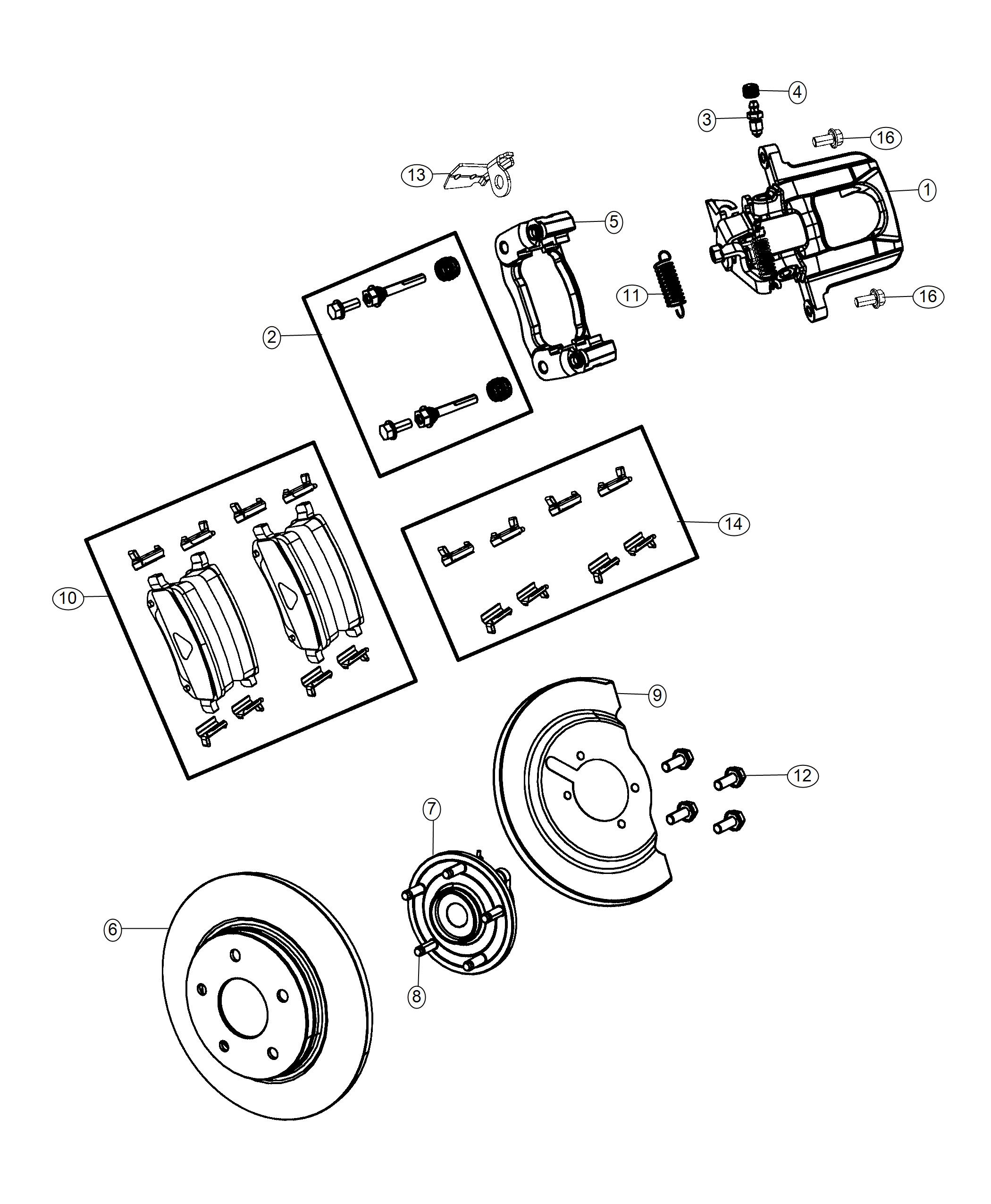 2019 Dodge Grand Caravan Rotor. Brake. Rear. Magneti