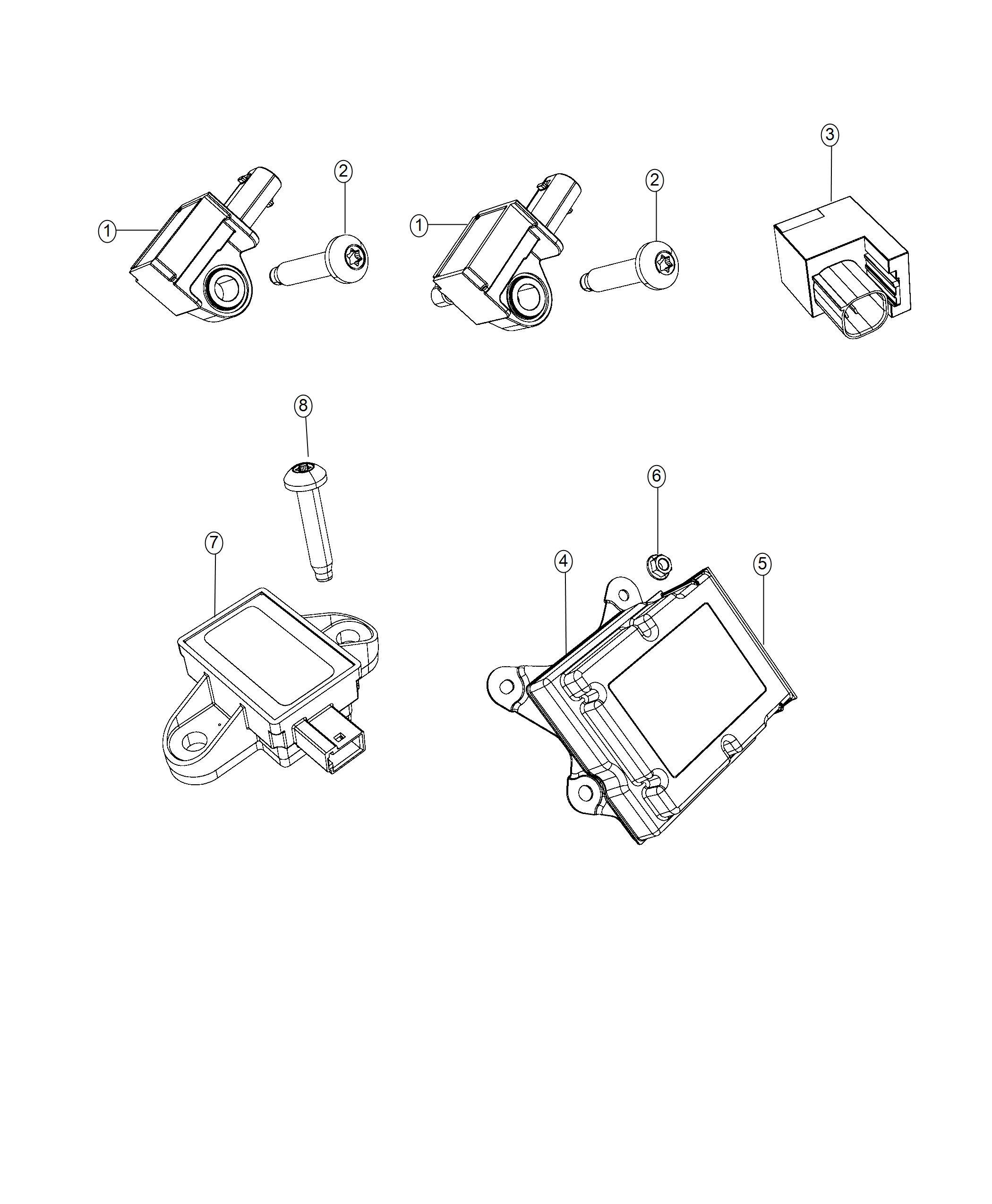 Jeep Renegade Sensor Acceleration Front End