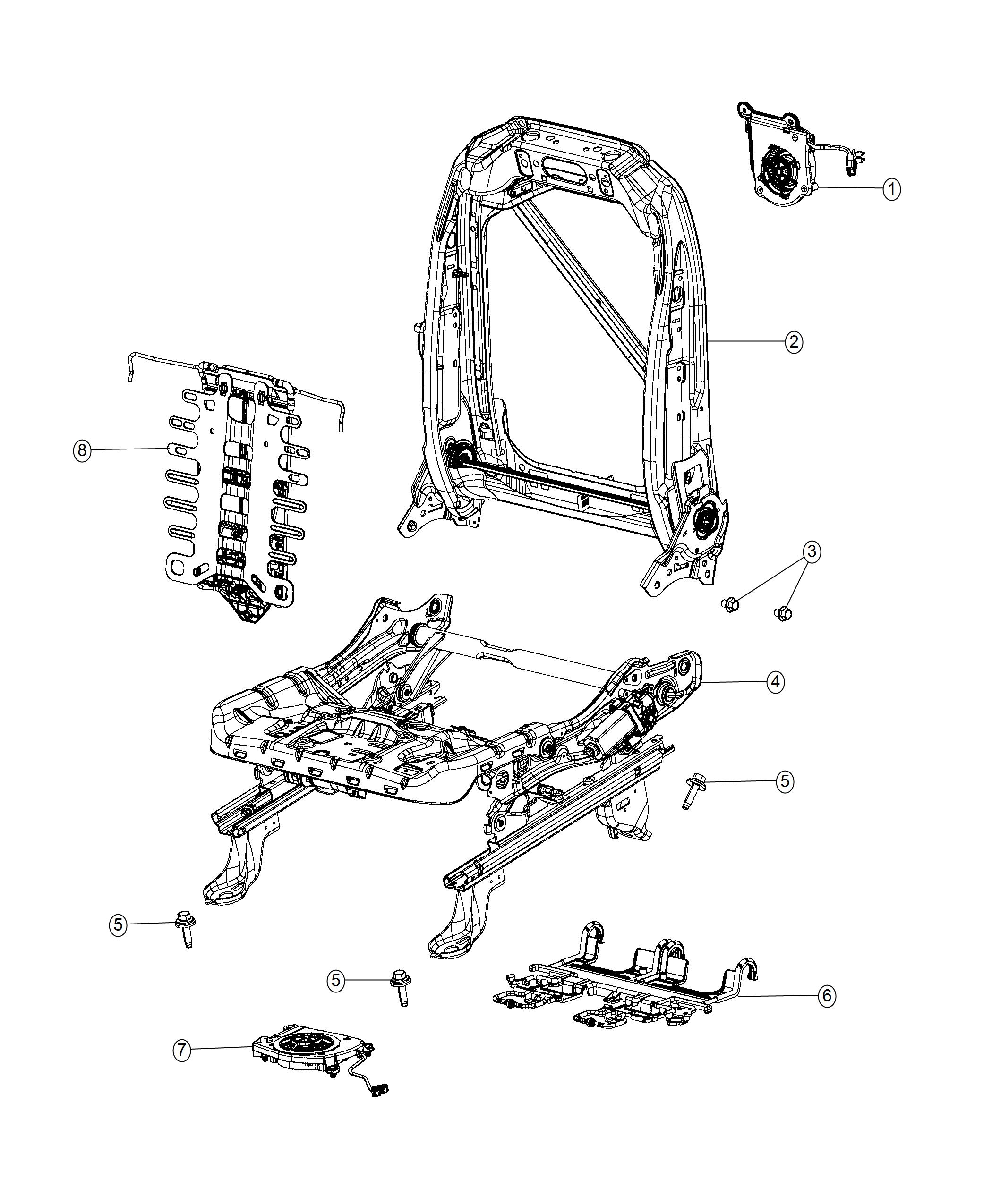 2017 Chrysler PACIFICA L HYBRID Adjuster. Power seat