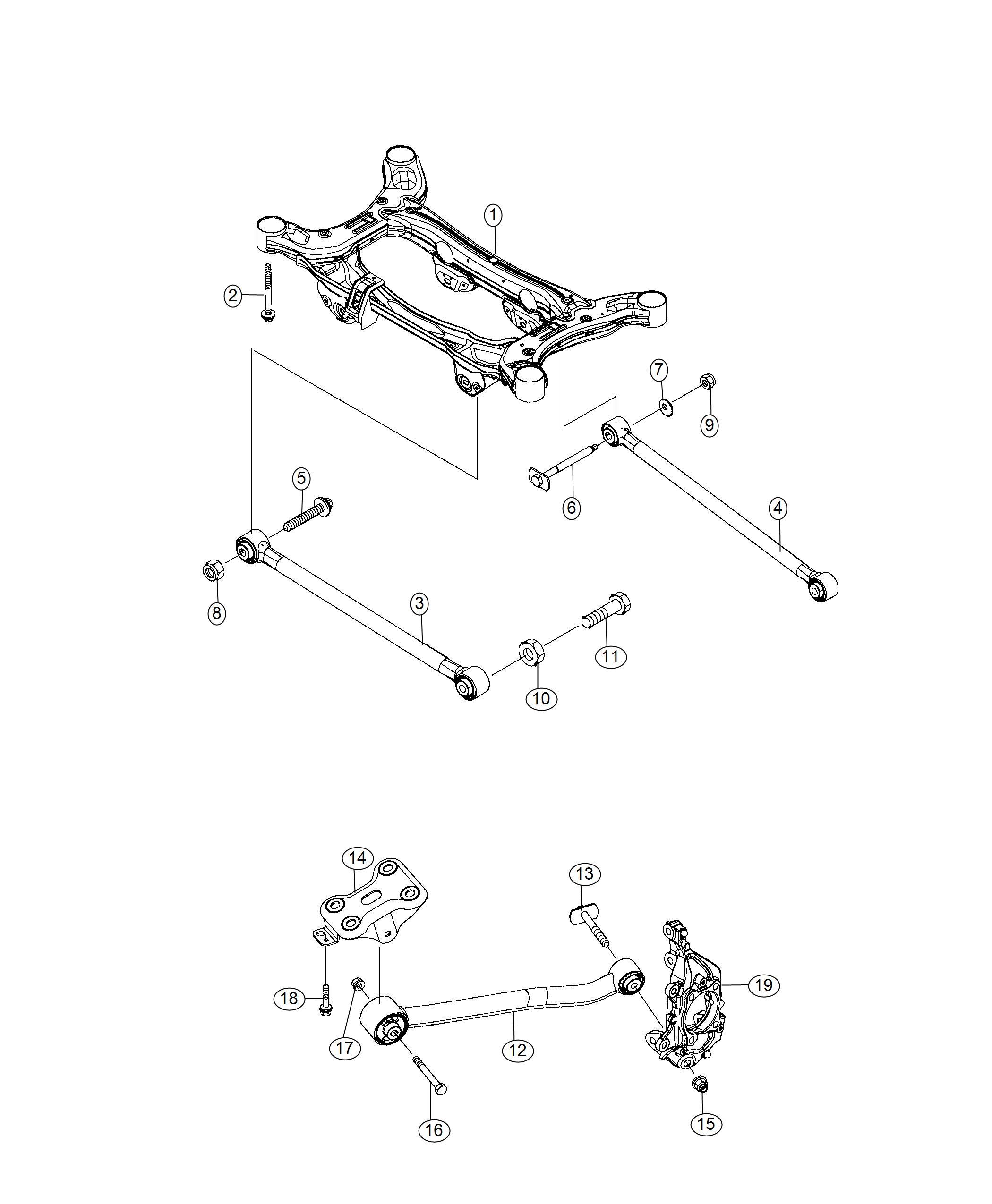 Jeep Compass Guide rod. Suspension. Rear. [rear suspension