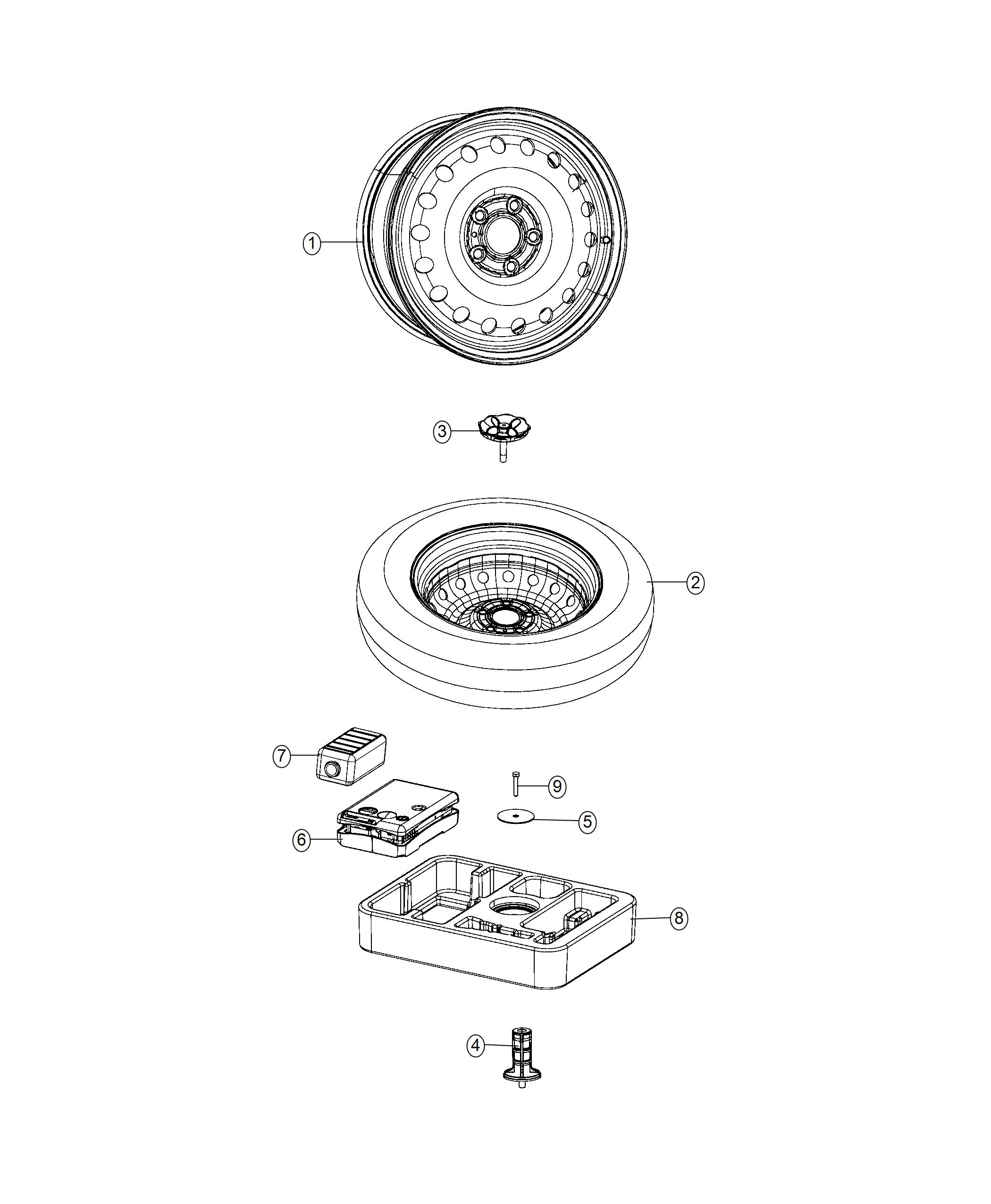 Jeep Compass Wheel Steel Tire Spare Size