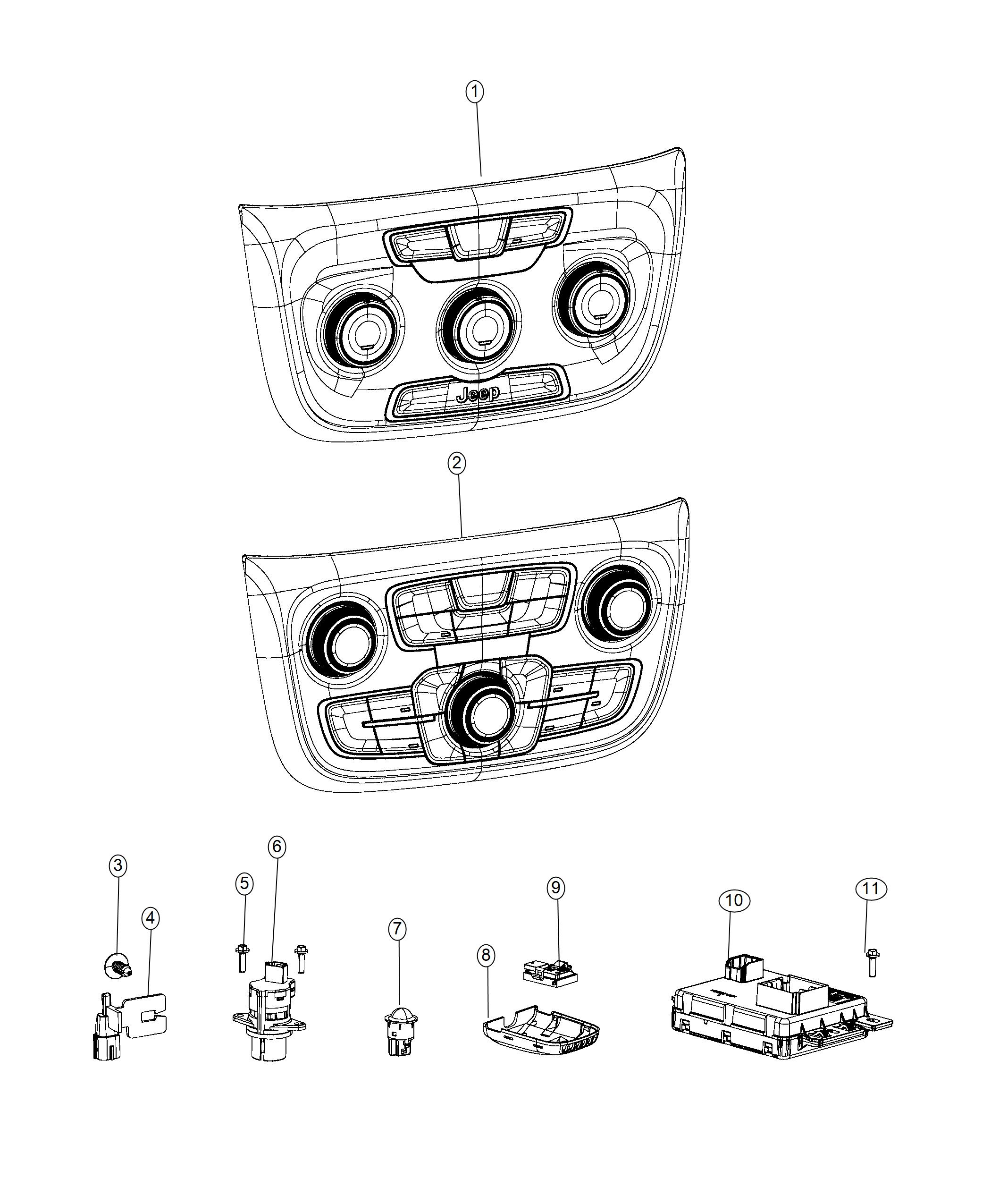 Jeep Compass Module. Used for: a/c and heater. [heater