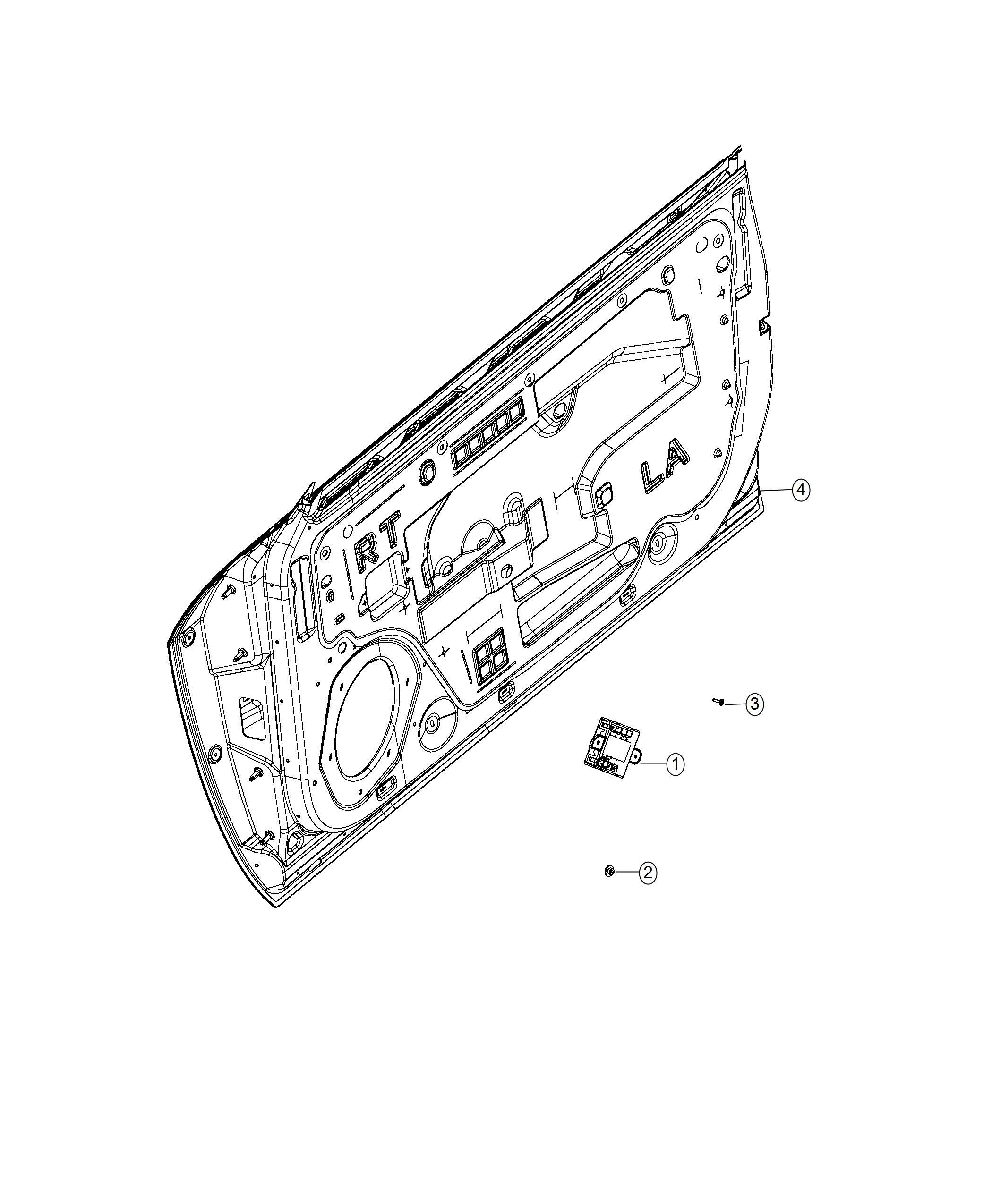 Dodge Challenger Module Door Right