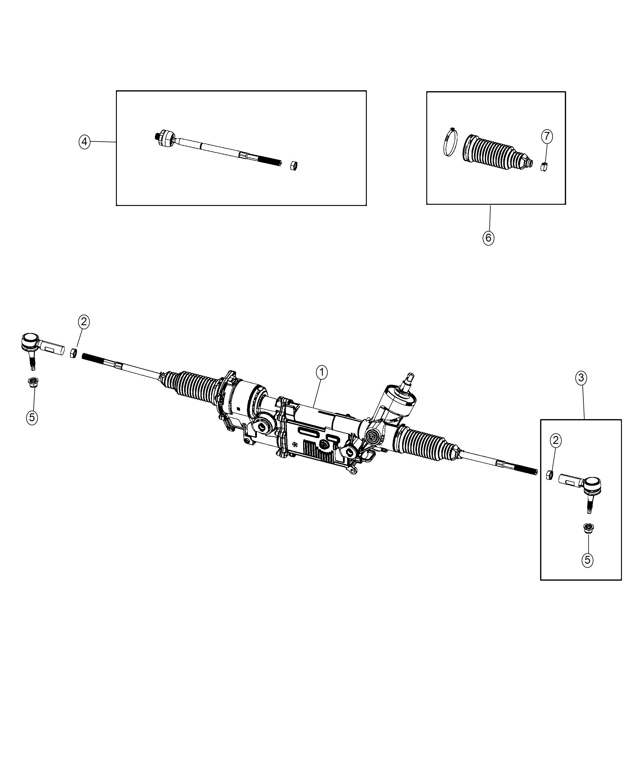 Dodge Challenger Tie rod kit. Outer end. Left. [4 whl ind