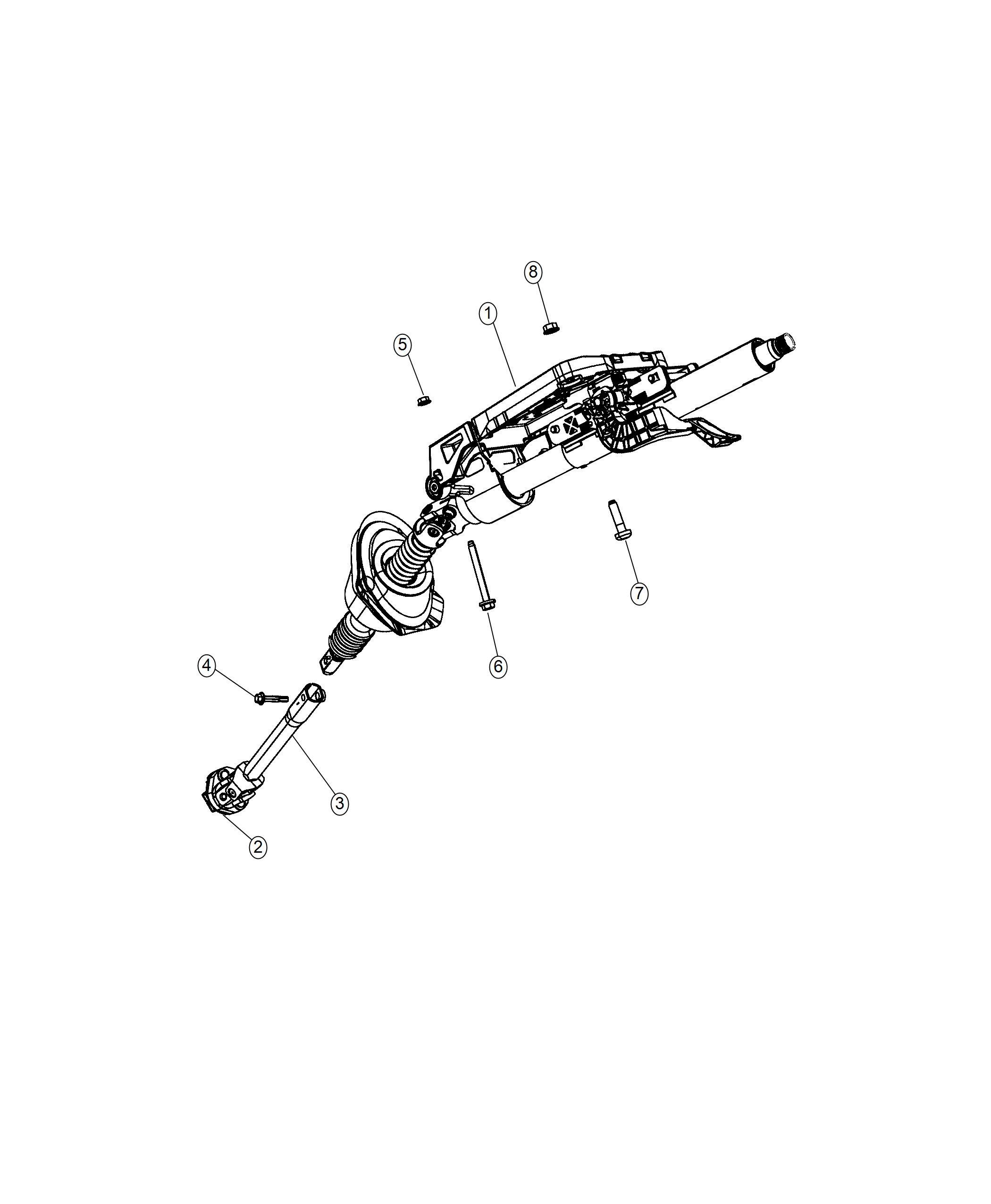 Dodge Charger Column. Steering. [instrument panel parts