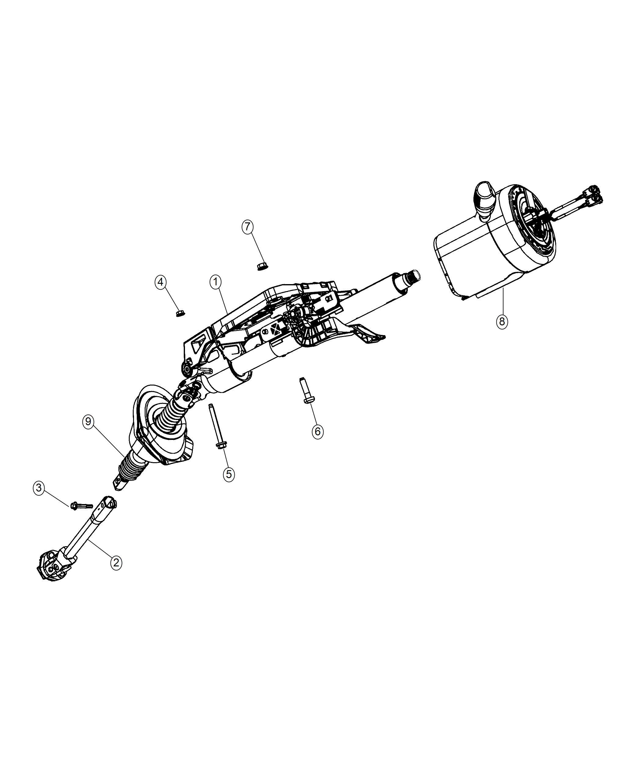 Chrysler 300 Column Steering Export Right Hand Drive