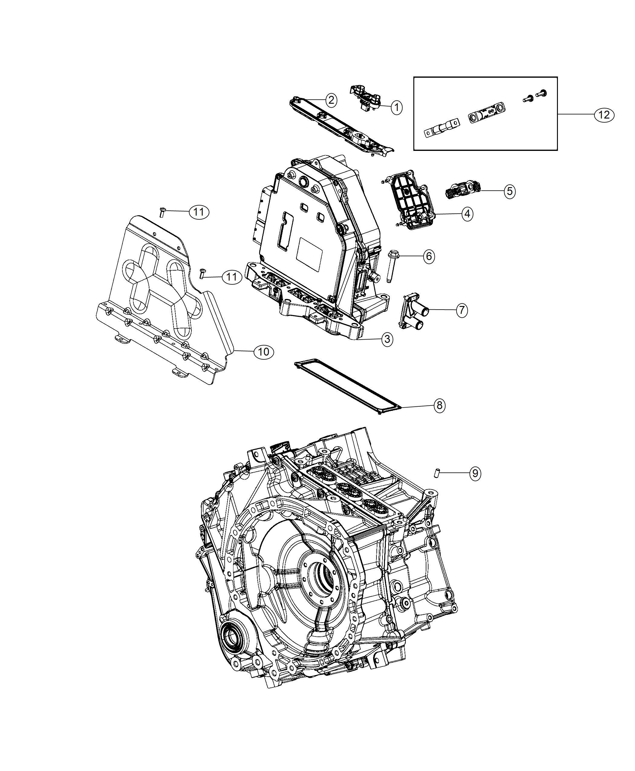 Chrysler PACIFICA L HYBRID Fuse. Power inverter module