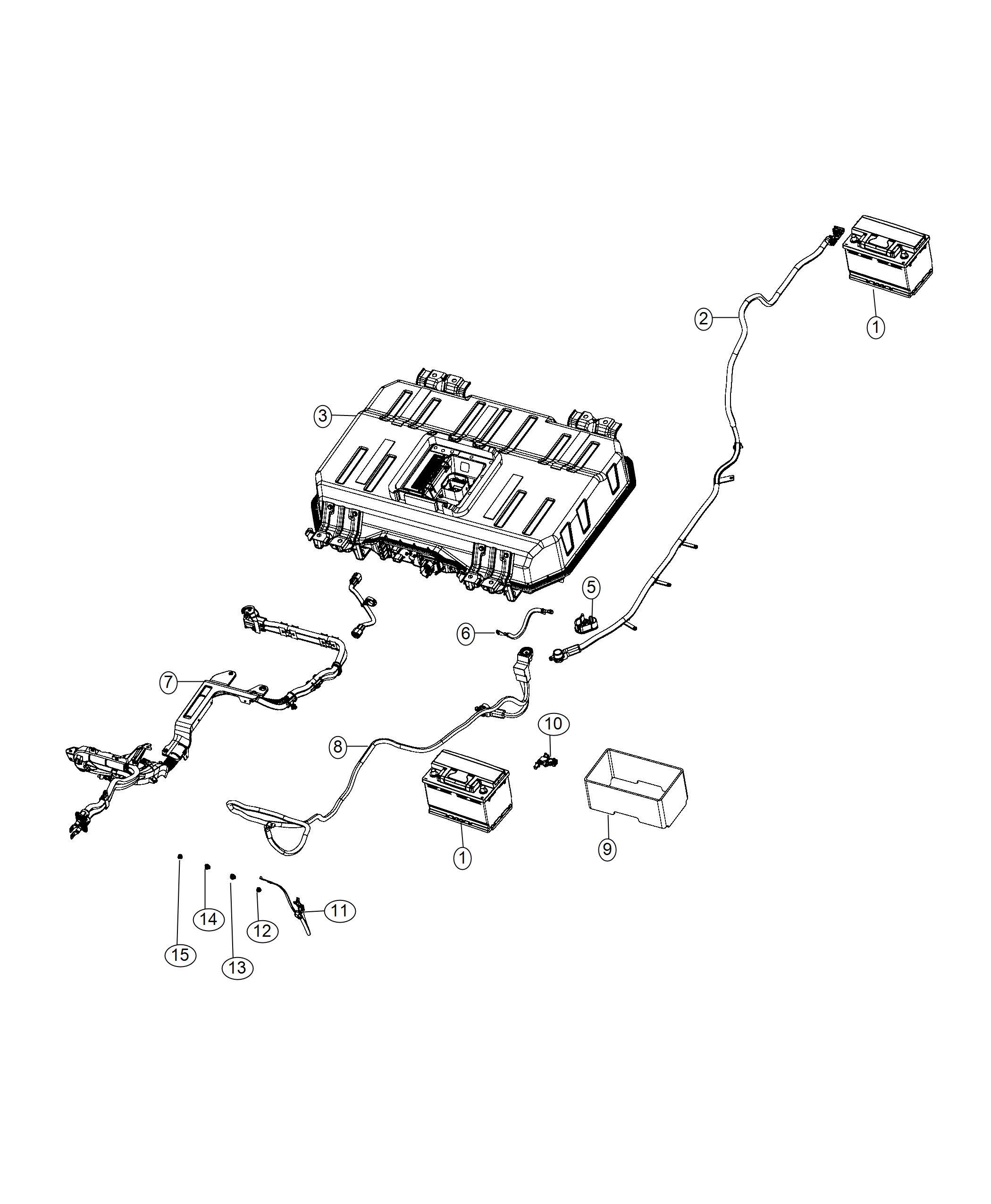 Chrysler Pacifica Isolator. Battery positive. [phev