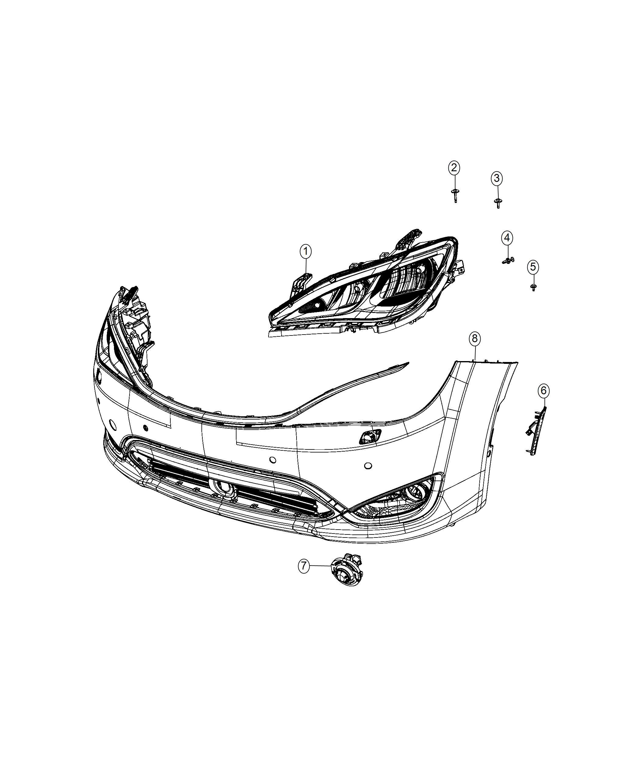 Chrysler Pacifica Lamp Side Marker Left Front Fascias