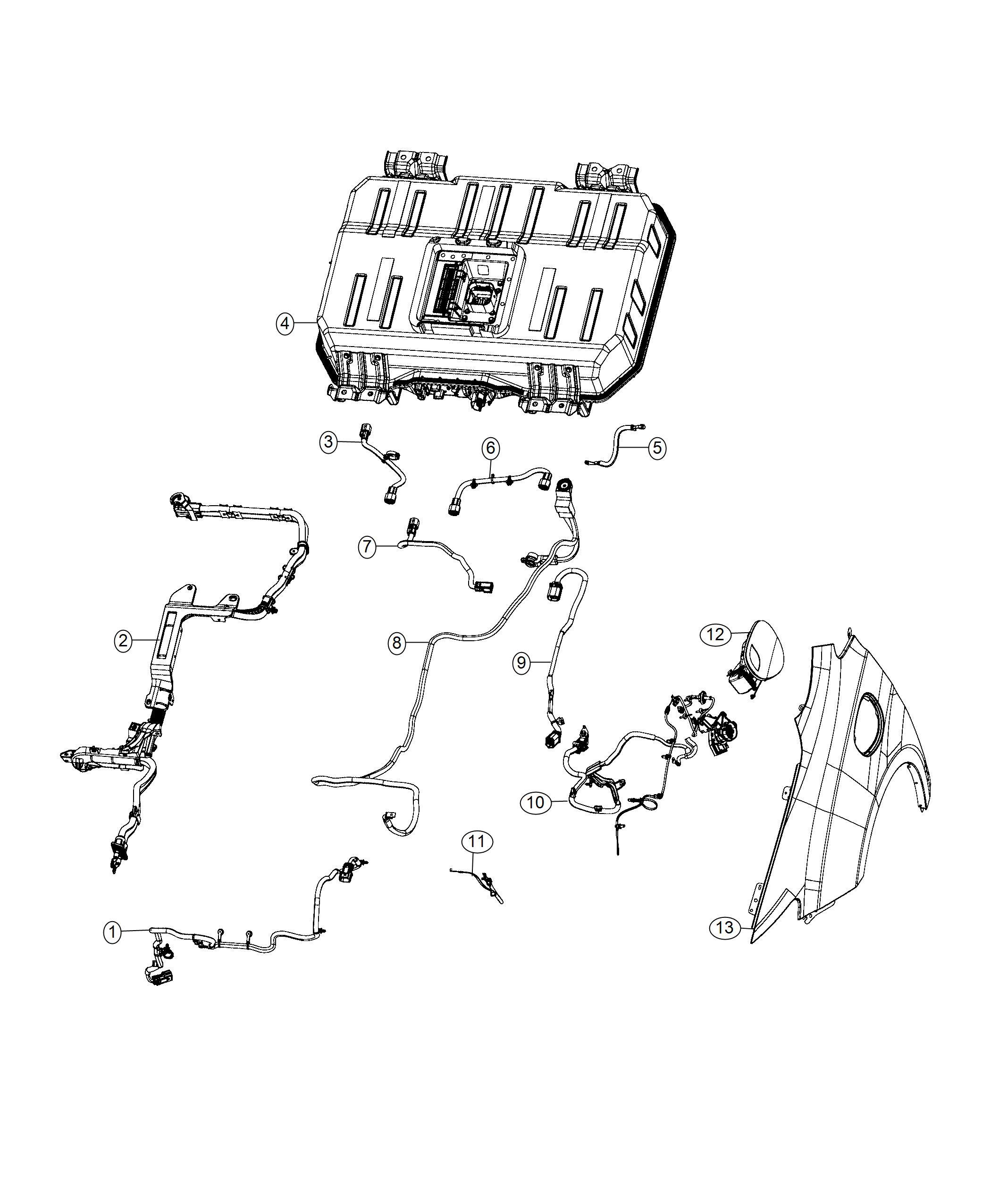 Chrysler PACIFICA L HYBRID Wiring. [phev adaptation