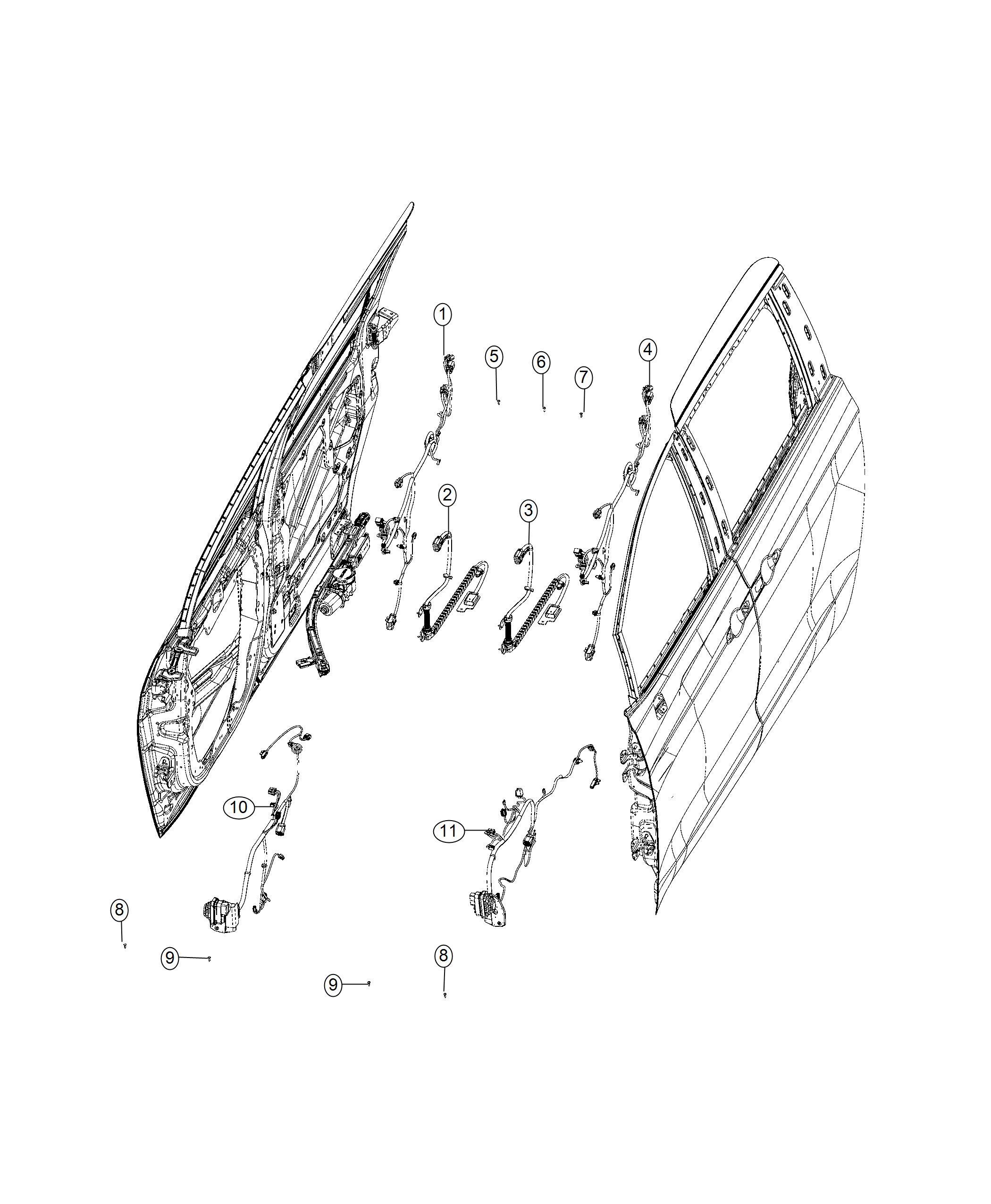 Chrysler Pacifica Wiring. Sliding door track. Right. [6