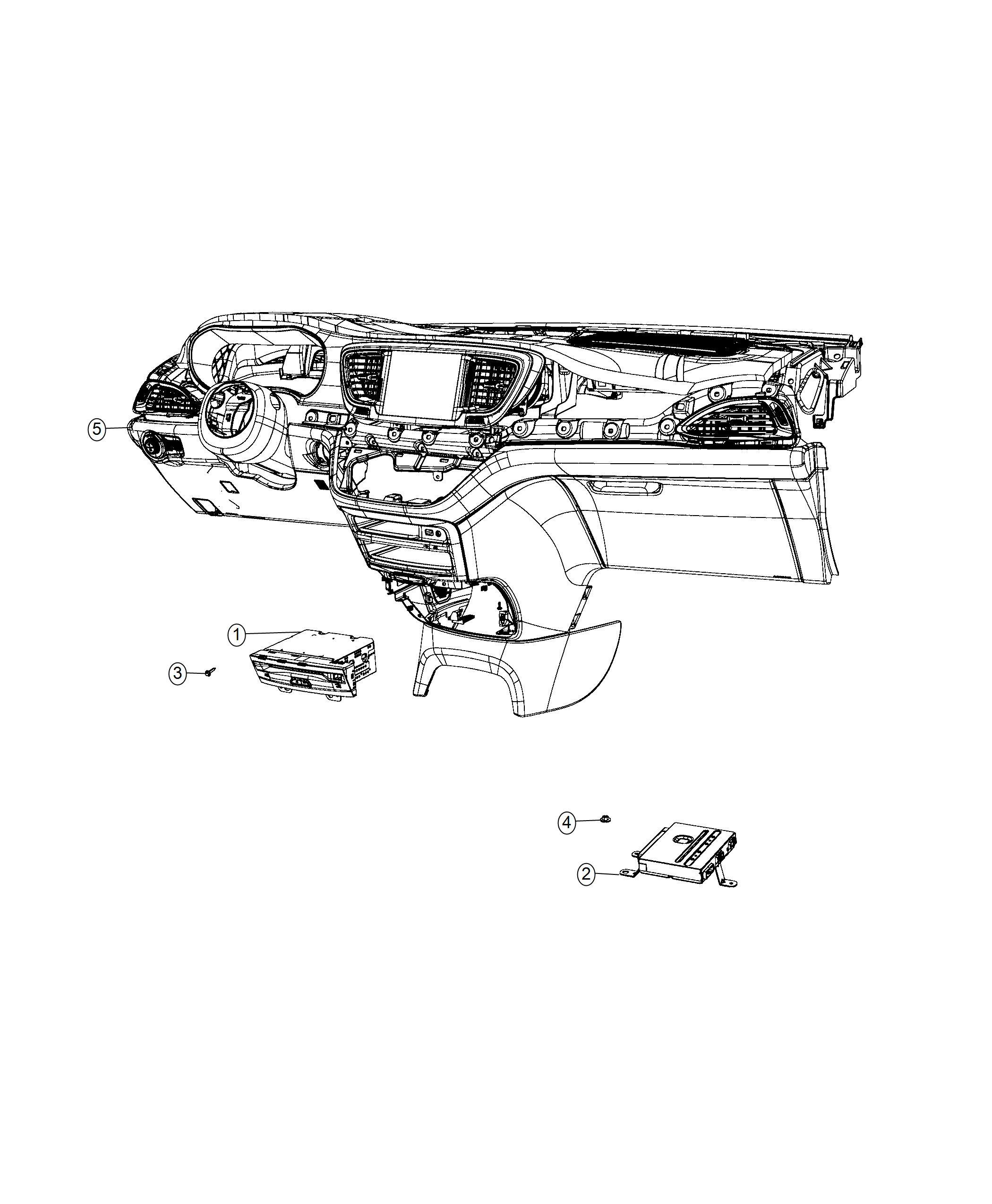 Chrysler Pacifica Module. Video. Router. [seatback video