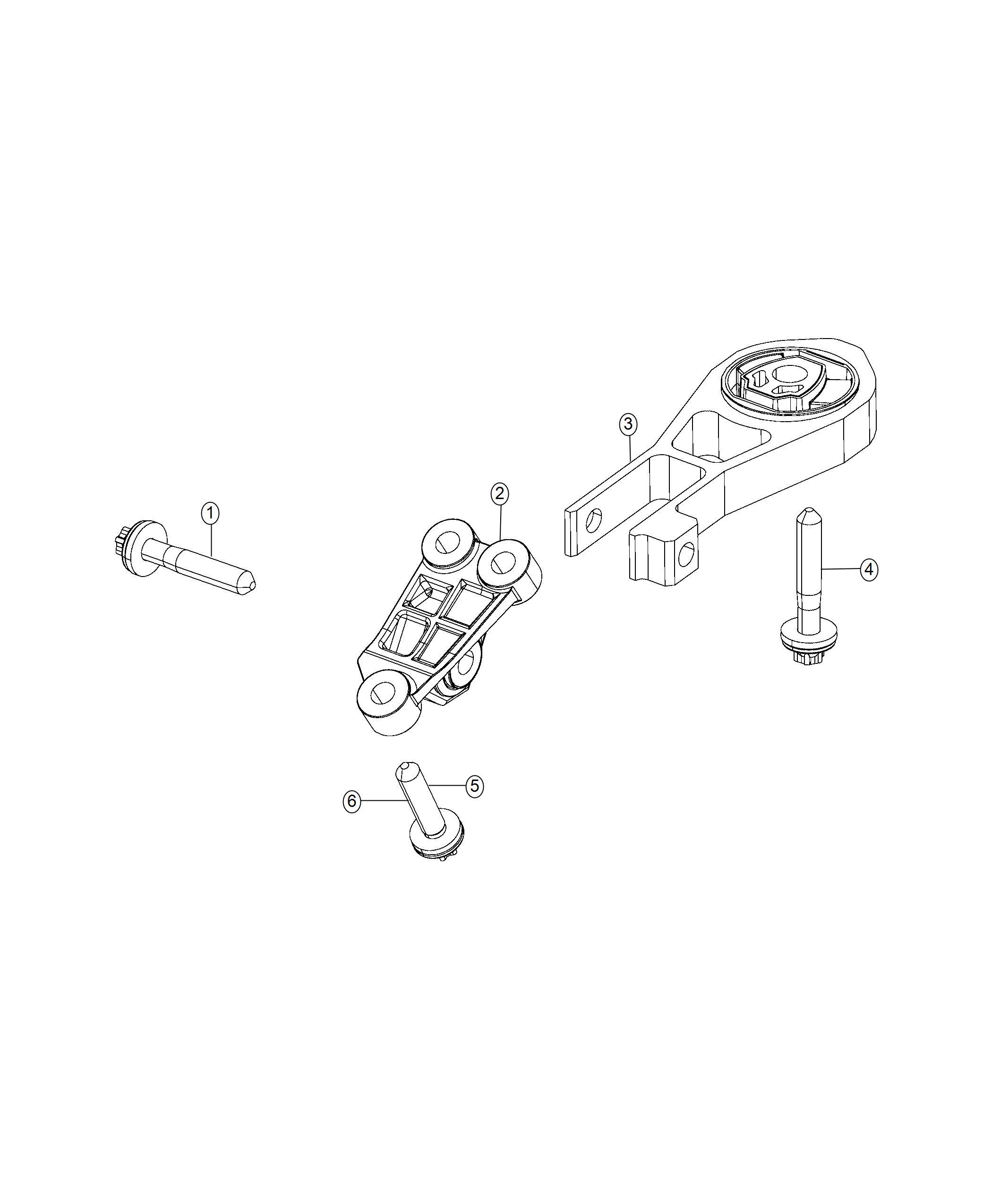 Jeep Compass Bracket. Engine mount. Awd, auto, fwd