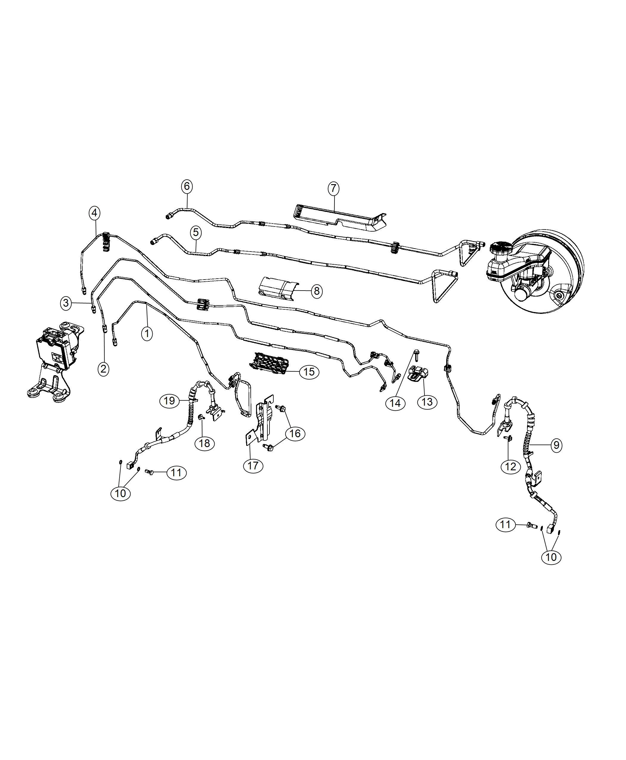 2019 Chrysler Pacifica Tube. Brake. Primary. [anti-lock 4