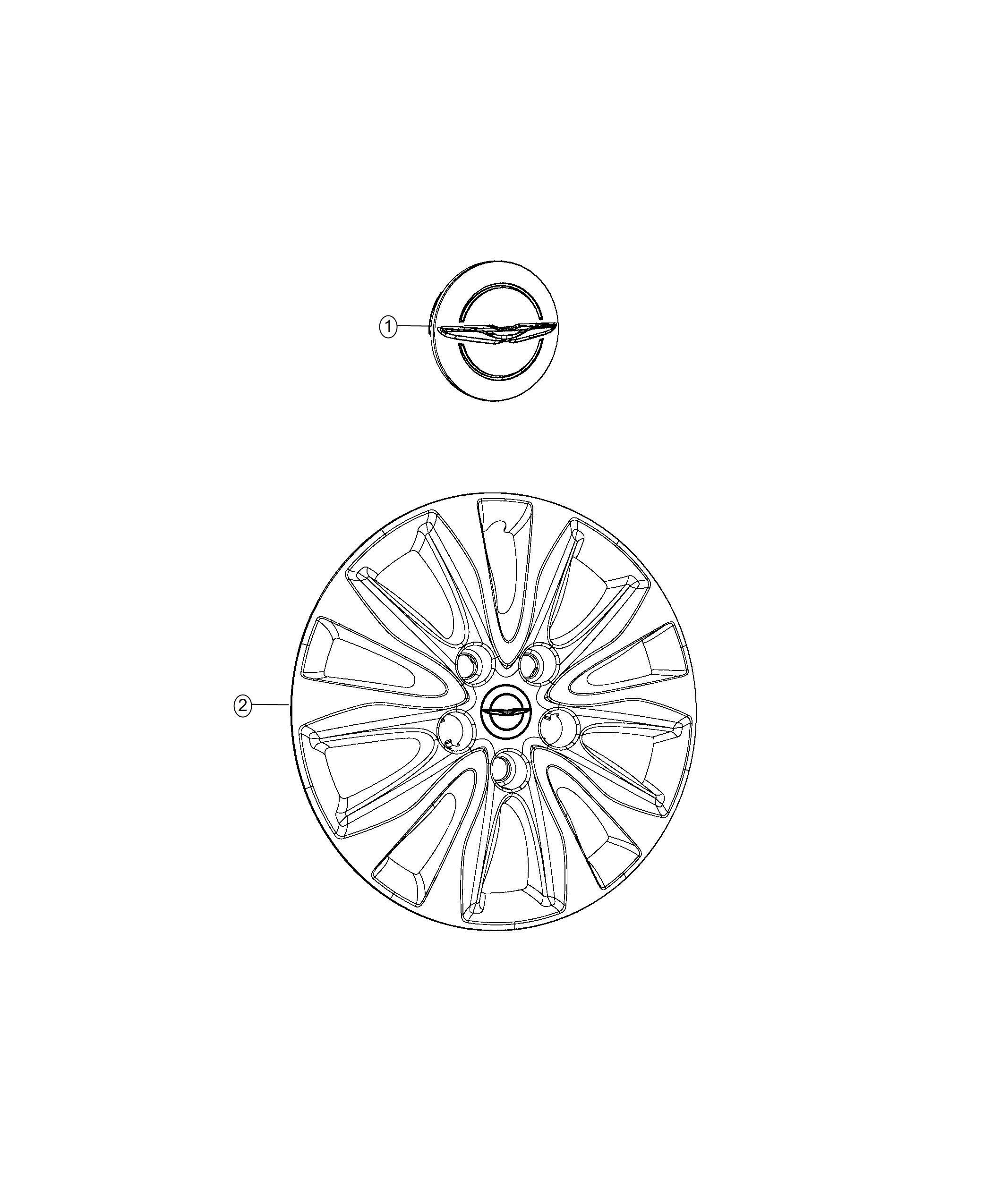 Chrysler Pacifica L Hybrid Cover Wheel 17 Wheel Covers Maintenance