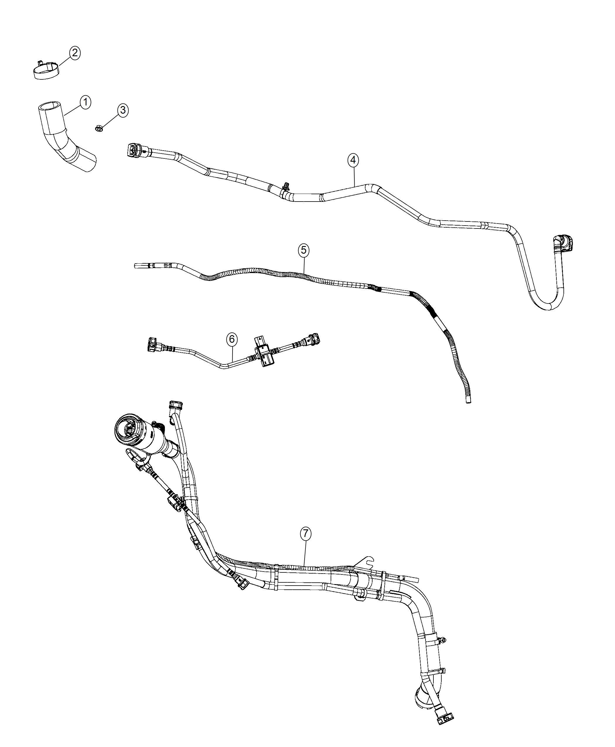 Chrysler Pacifica Hose. Fuel filler. [phev adaptation