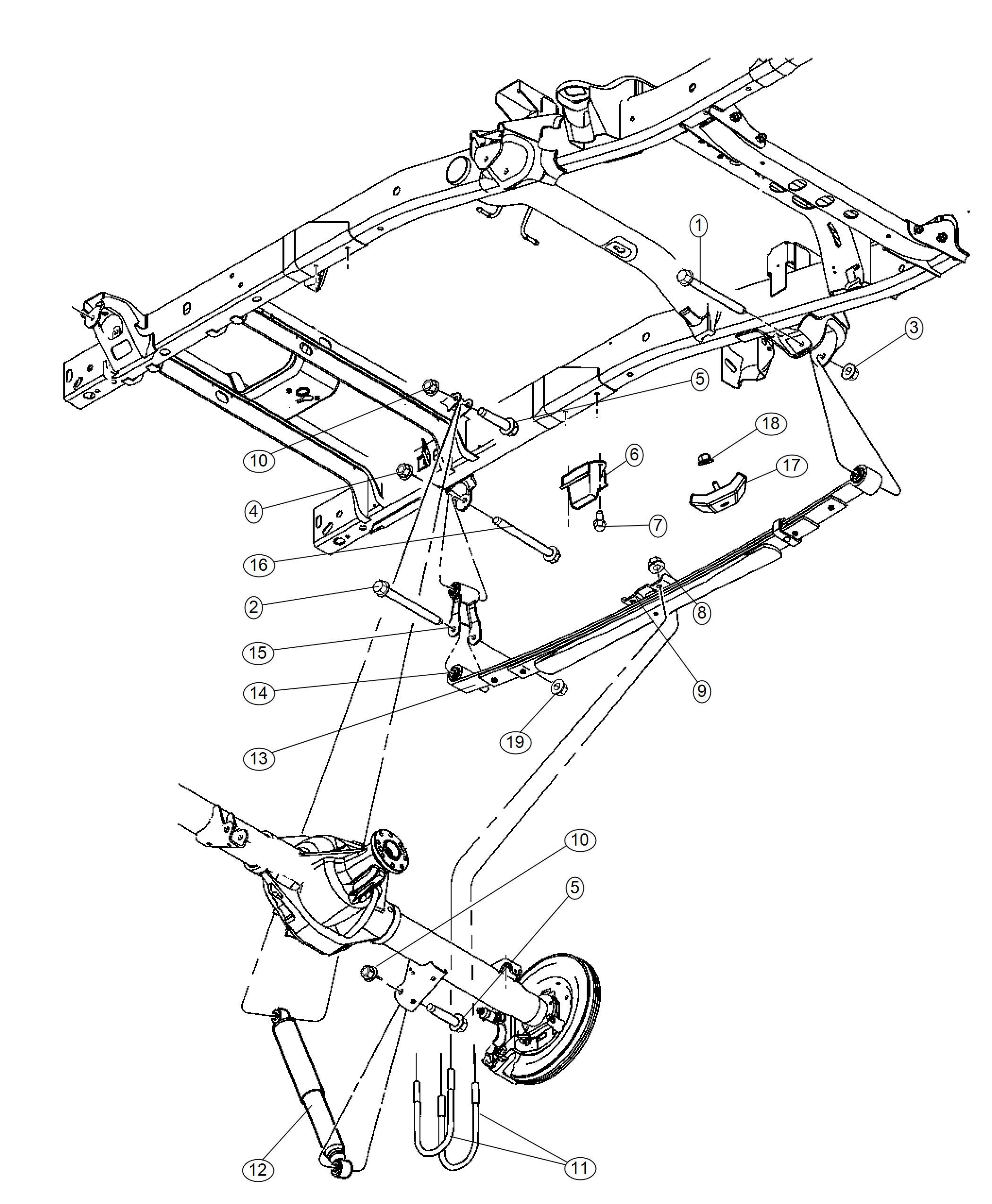 2010 Dodge Ram 3500 Shock absorber. Suspension. Rear. Duty