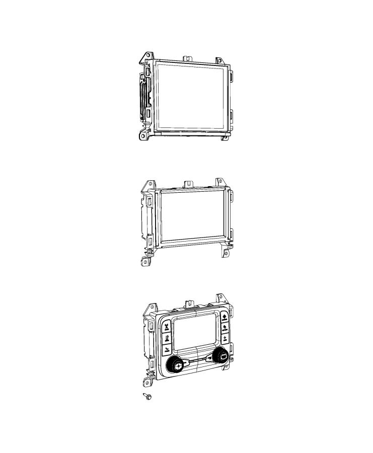 Jeep Wrangler Radio. Multi media. [instrument panel parts