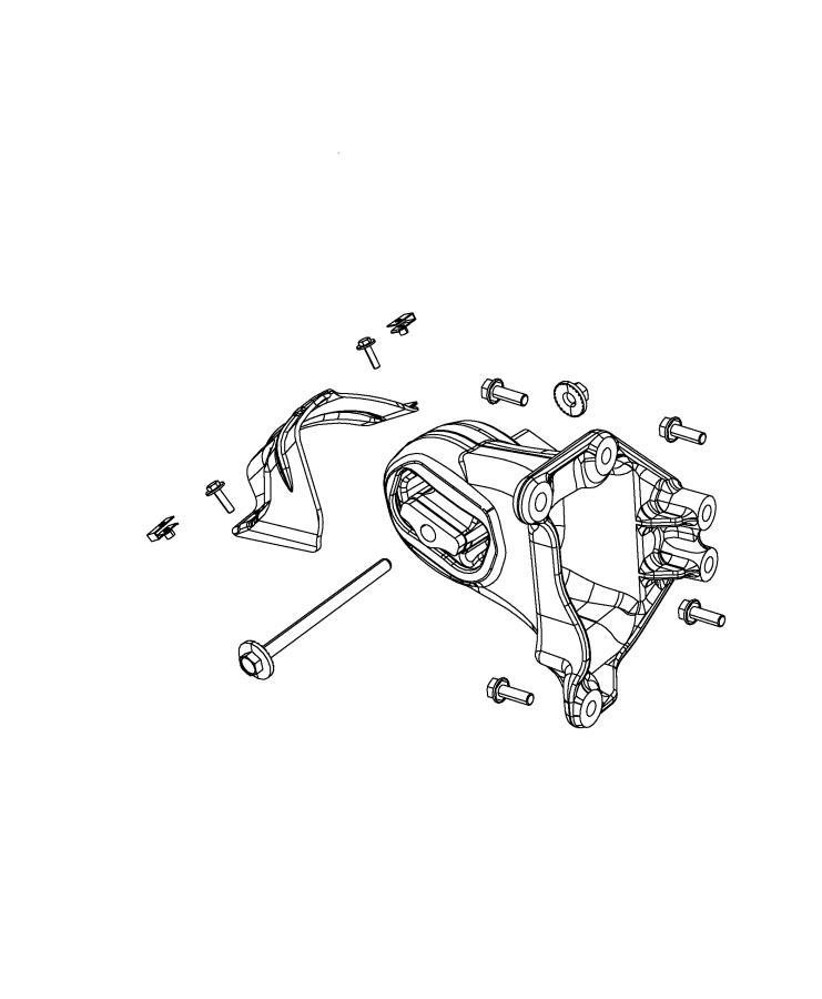 Jeep Wrangler Heat shield. Engine mount. Side, mounting