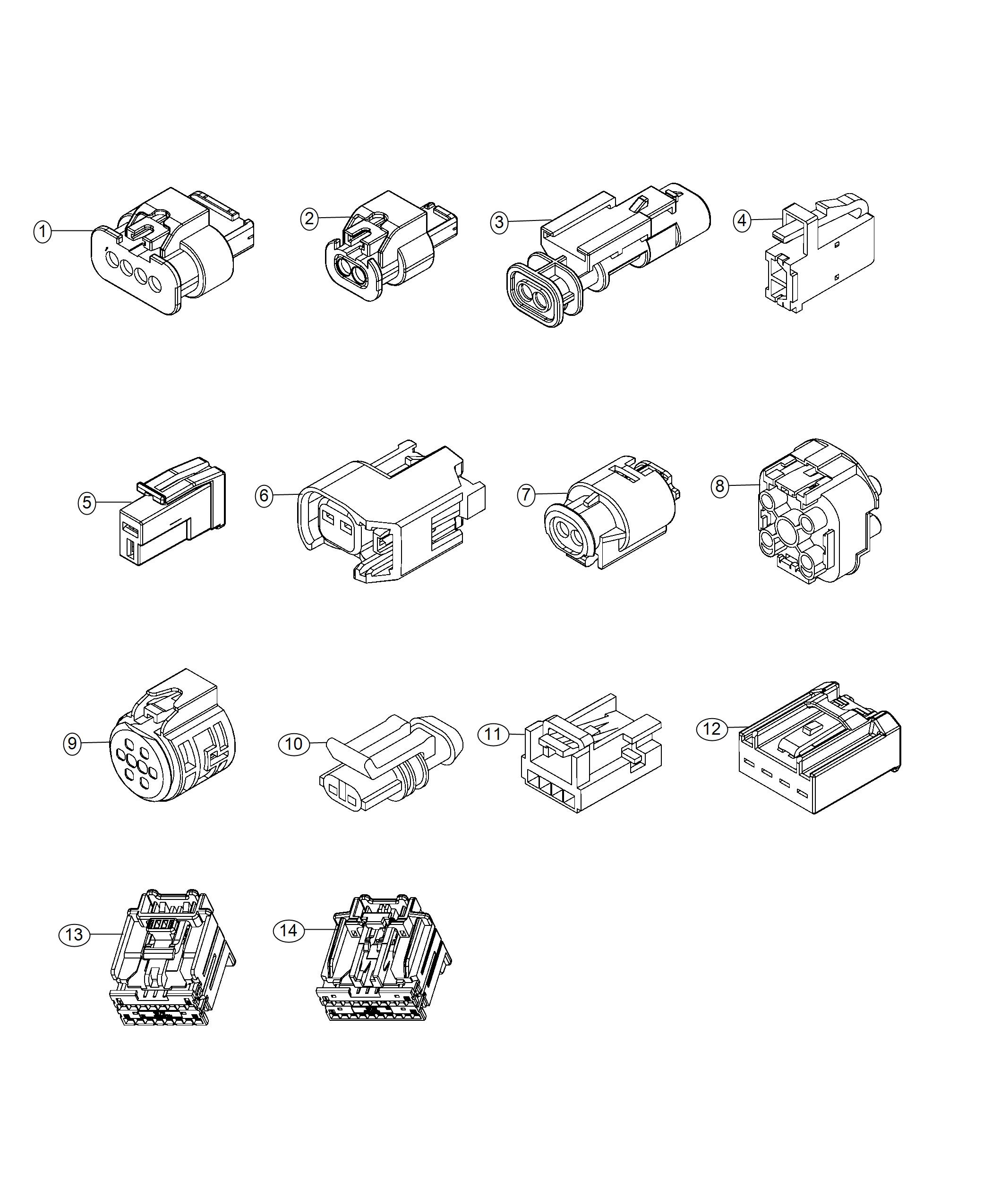 Fiat 500X Connector. Electrical. Export, us, canada