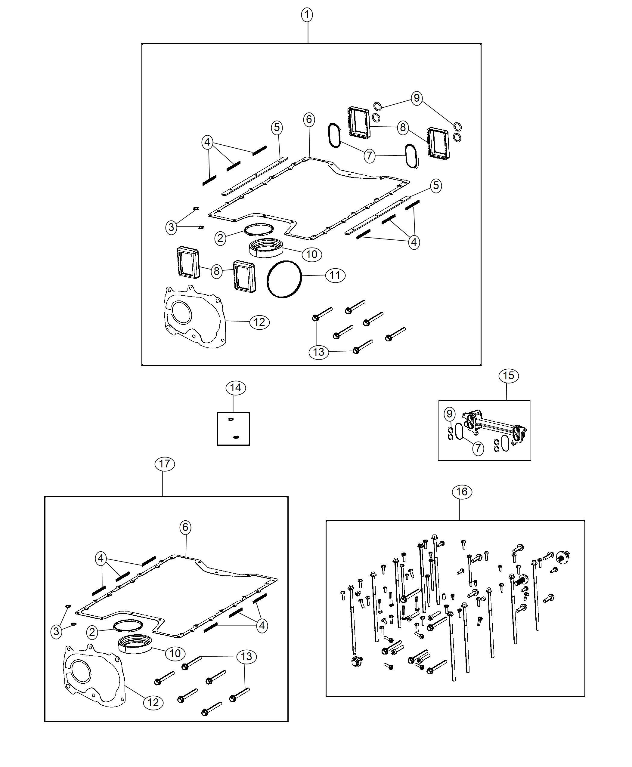 Dodge Charger Gasket kit. Supercharger lid. Kits, service