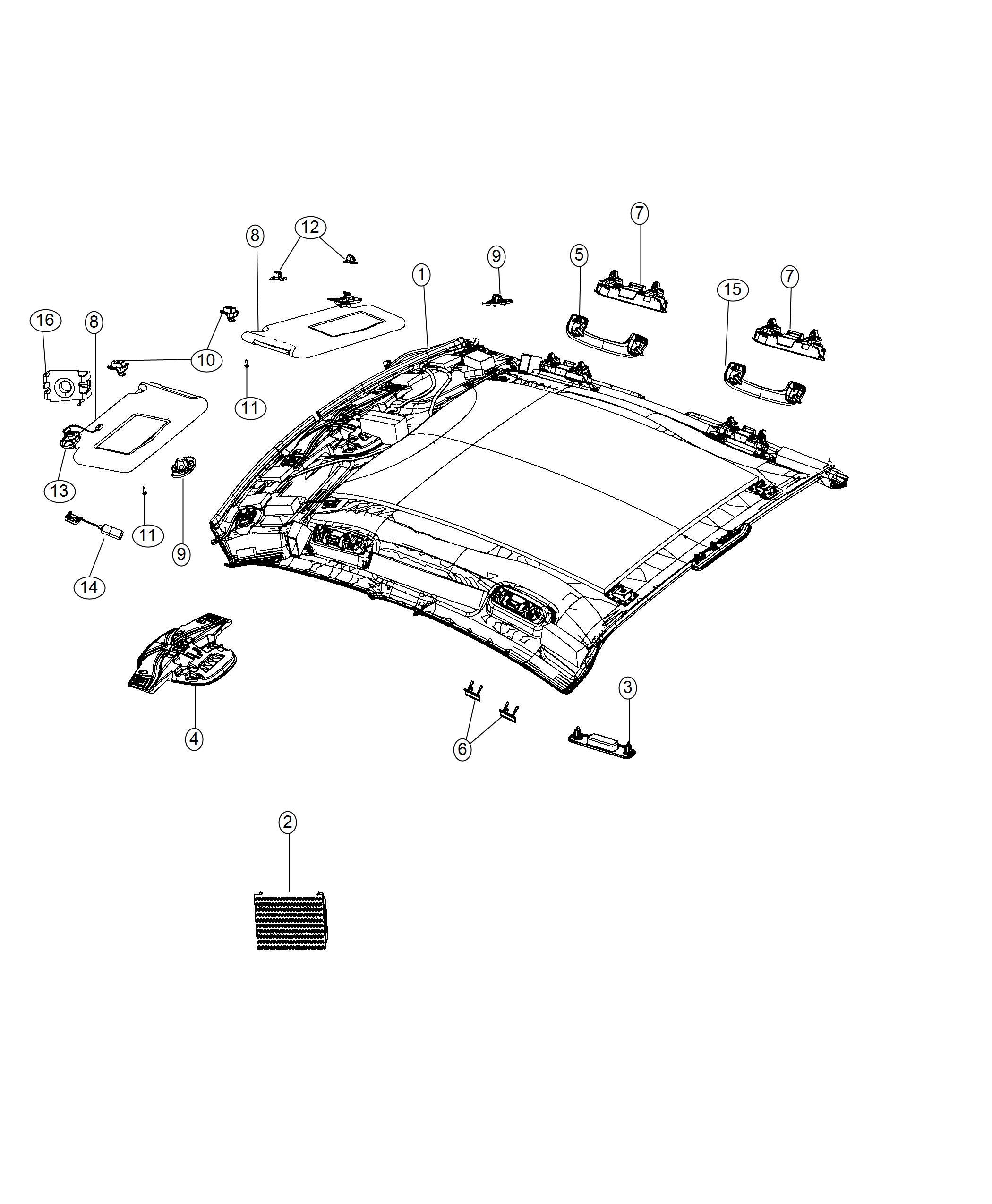 Dodge Charger Visor Illuminated Left Right Trim No Description Available Color