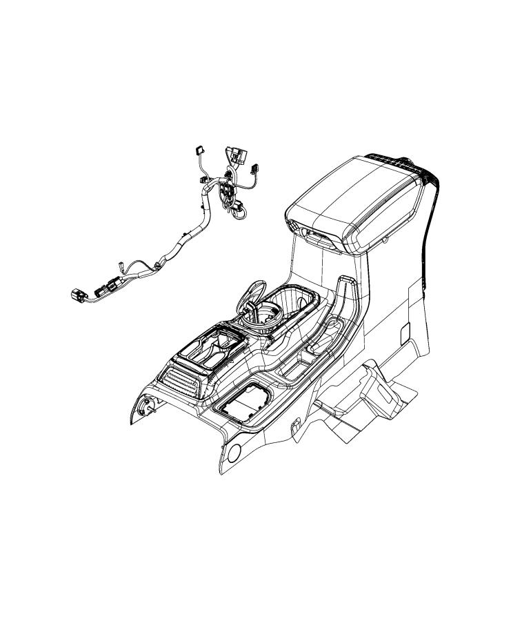 Jeep Gladiator Wiring. Jumper. Console. [center console
