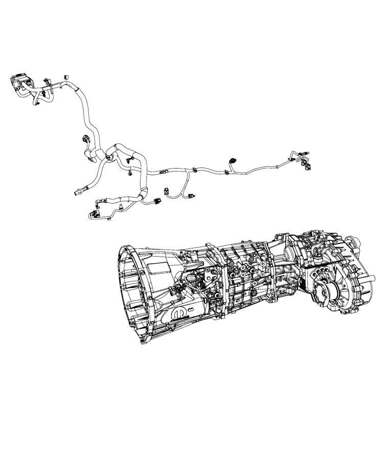 Jeep Gladiator Wiring. Transmission. [complete chassis