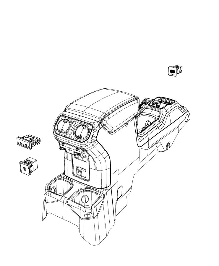 Jeep Gladiator Usb. Charging port. Trim: [*o0] color: [no