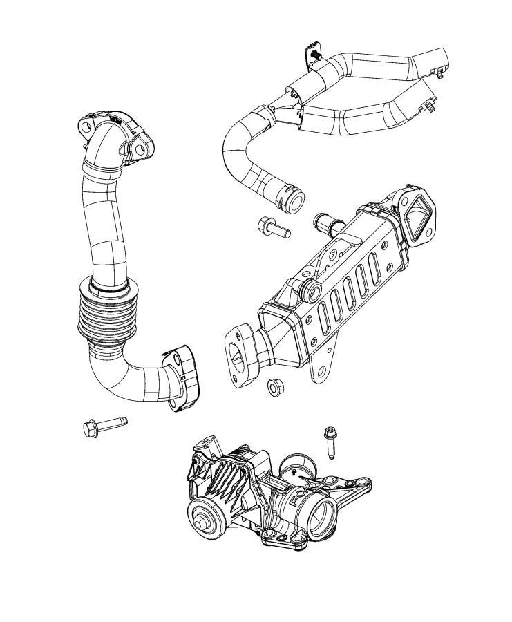 Jeep Wrangler Tube. Egr. System, cooling, dohc