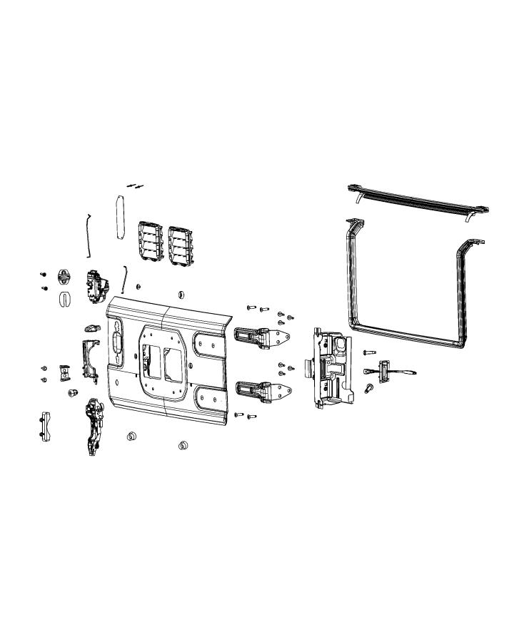 Jeep Wrangler Latch. Swing gate. [manual door locks]. Fca