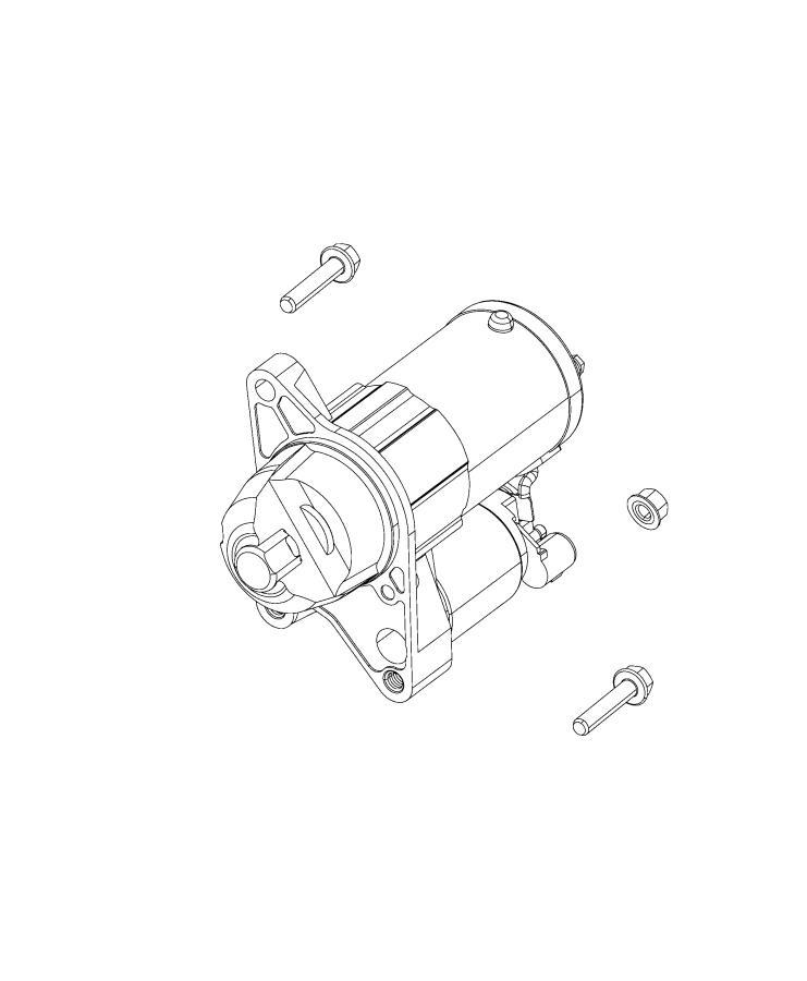 Jeep Compass Starter. Engine. [power train parts module
