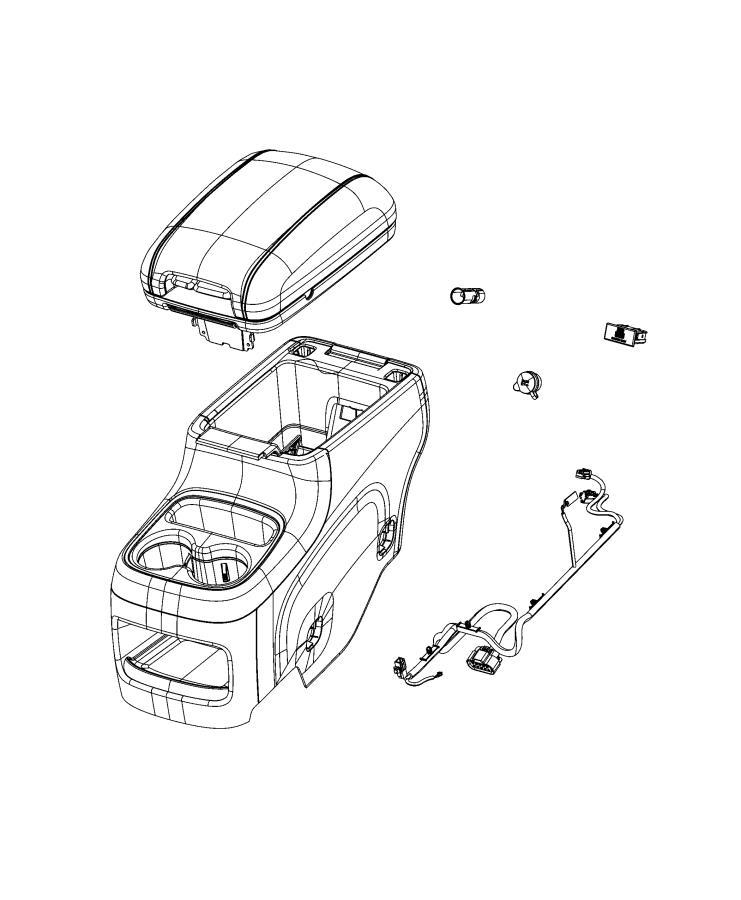 Dodge Durango Wiring. Console. Trim: [no description