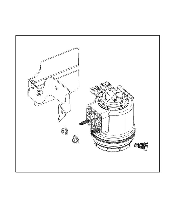 Jeep Wrangler Filter kit. Fuel/water separator. Fca