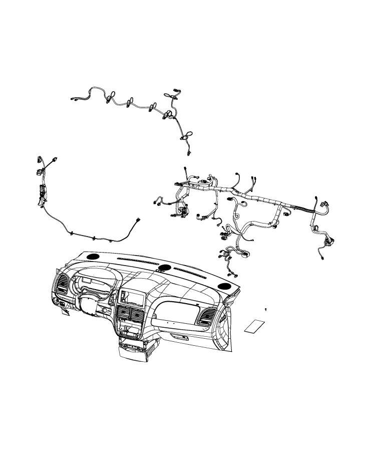 Dodge Grand Caravan Wiring. Instrument panel. [instrument