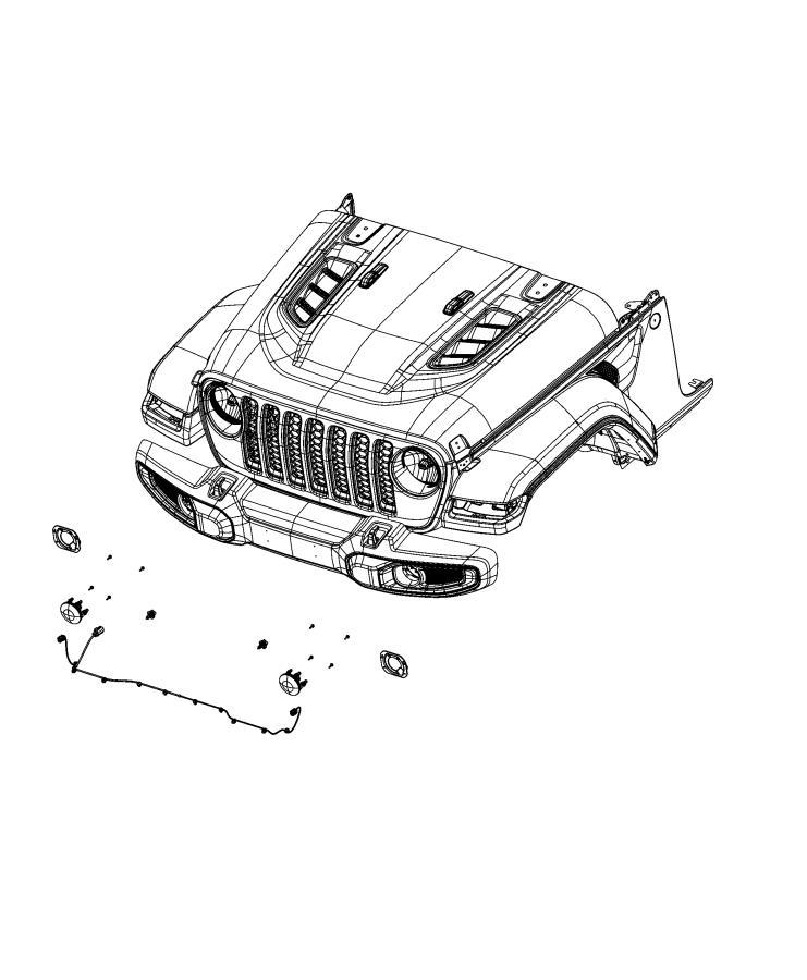 Jeep Wrangler Wiring. Front fascia. Export. [front fascias