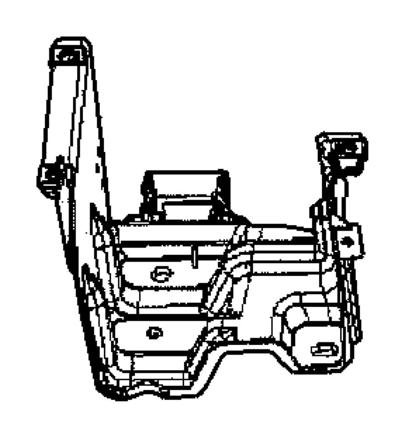 Chrysler Crossfire Bracket. Dash panel junction box