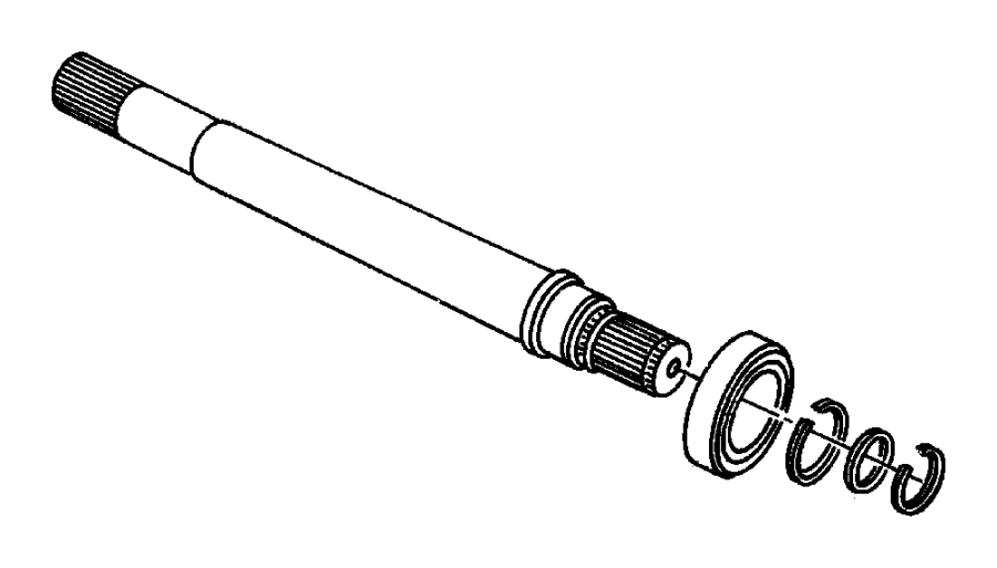 Dodge Intrepid Output shaft. Transaxle. Shaft, stub w/ball