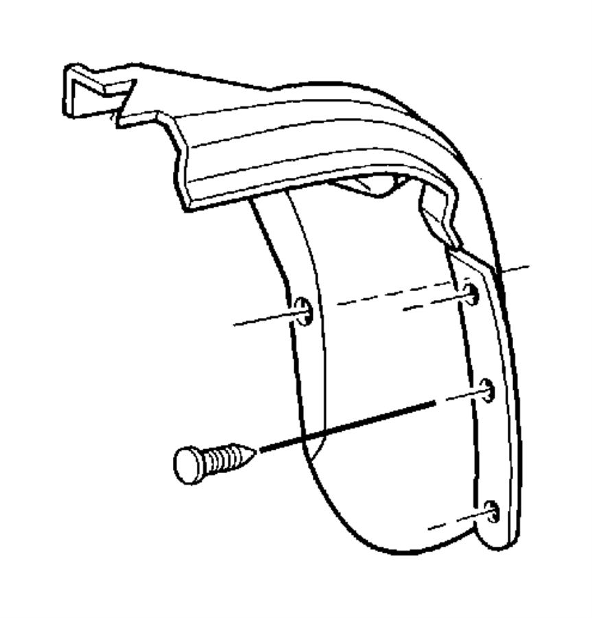1998 Dodge Ram 1500 Liner. Front fender. Right. Fenders