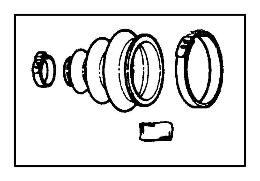 Chrysler PT Cruiser Lock, used for: nut and washer kit