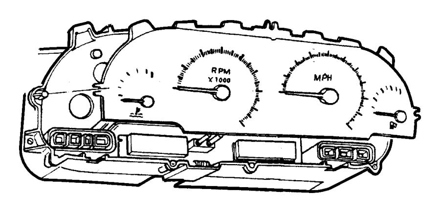 1997 Chrysler Voyager Gauge. Odometer. Manual transmission