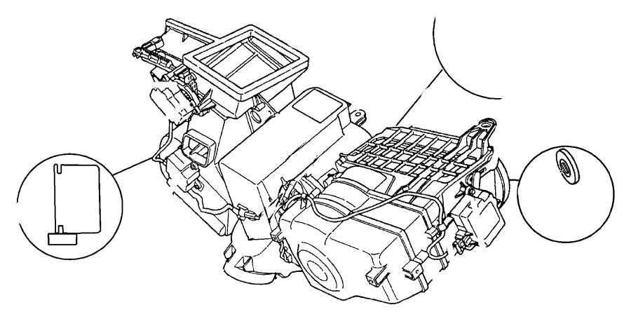 1997 Dodge Intrepid Actuator. Heater. Blend air door