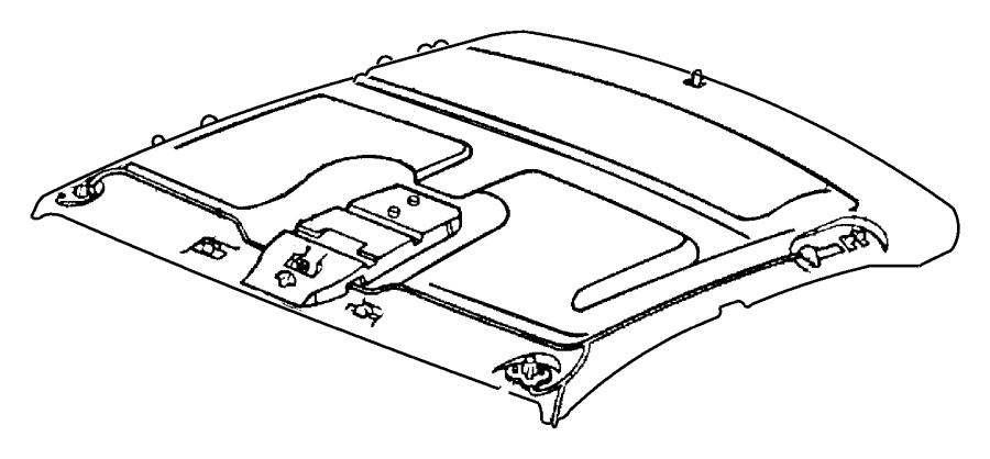 1997 Dodge Intrepid Headliner. Quartz, w/assist handle
