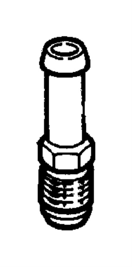 Dodge Stratus Valve. Pcv. Crankcase, ventilation, engine
