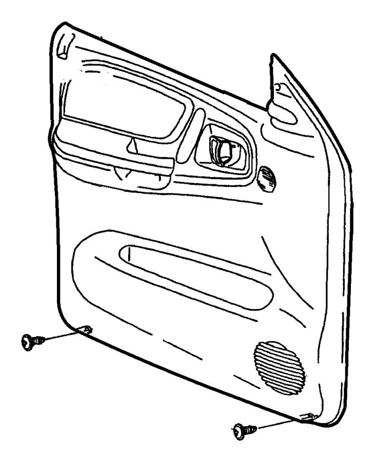 Dodge Durango Panel. Front door. Left. [az], cloth