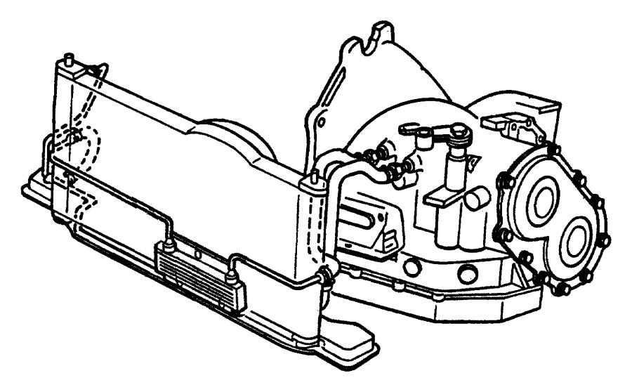 1999 Chrysler Sebring Hose. Transmission oil inlet. Trans
