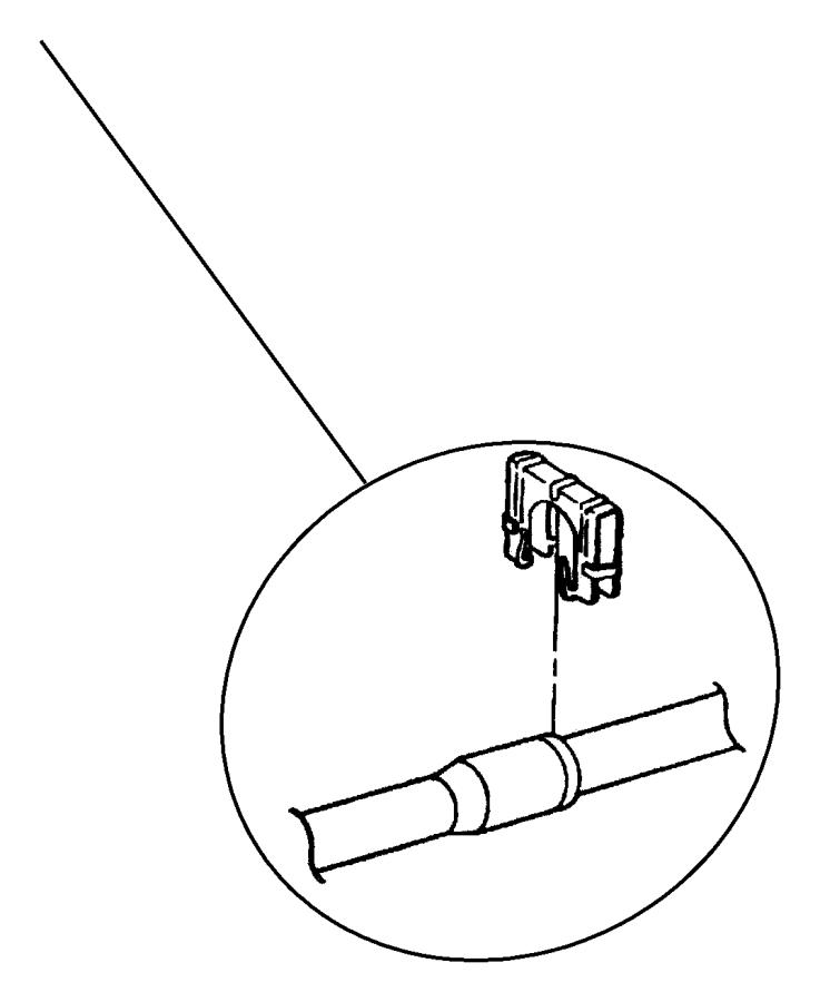 2000 Dodge Stratus Clip. A/c quick disconnect. Air