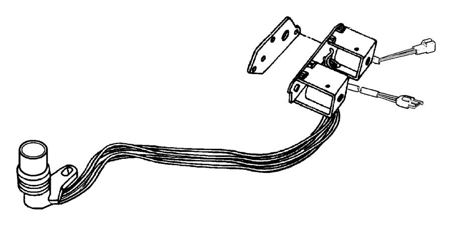1999 Dodge Dakota Solenoid. Transmission overdrive. Prong