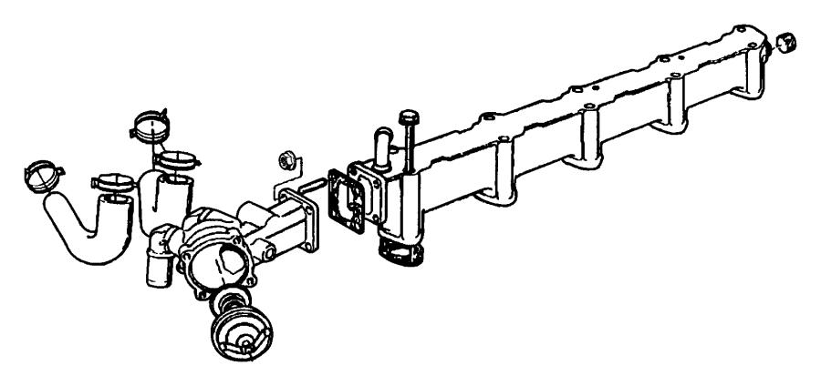 1998 Dodge Dakota Clamp. Heater hose. Thremo, enr