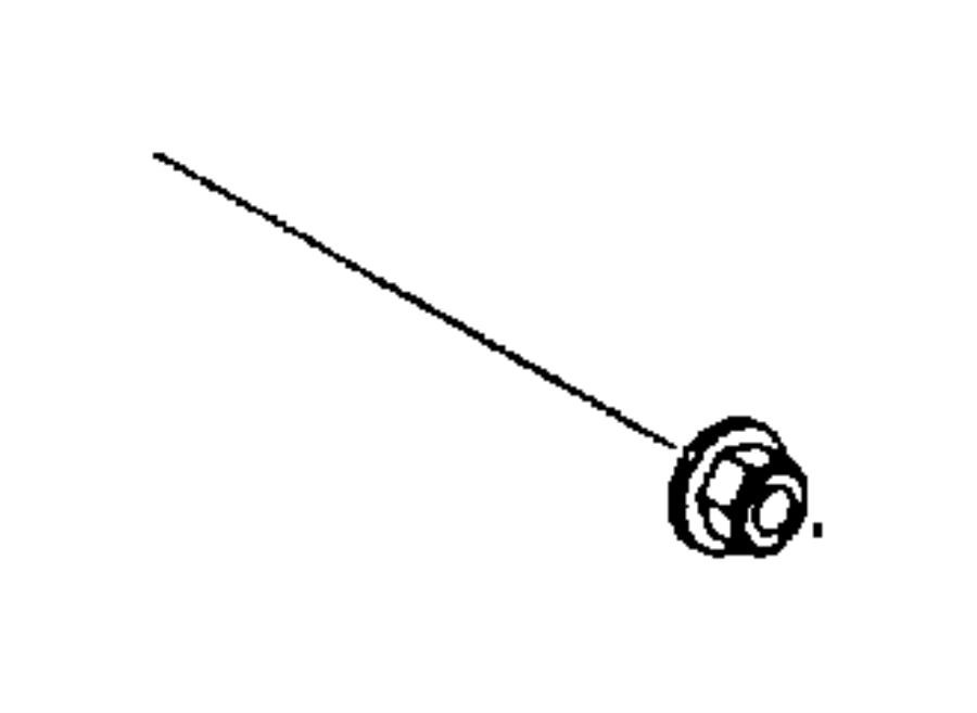2008 Chrysler Aspen Nut. Hex flange lock, stabilizer bar